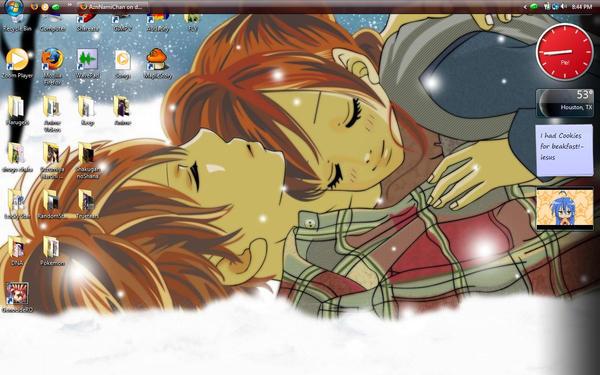 My N3W Desktop xD by AznNamiChan