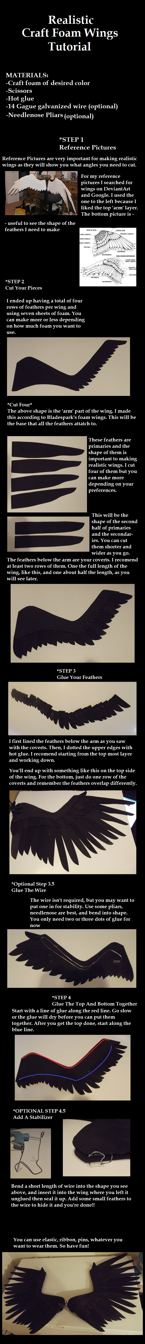 Realistic Foam Wings Tutorial by Zexion-the-gamer