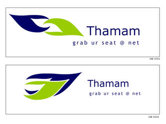 Thamam logo by fluidbrush
