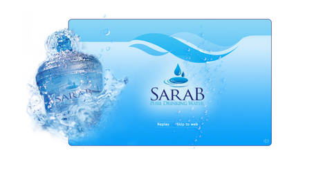 Sarab flash intro layout by fluidbrush