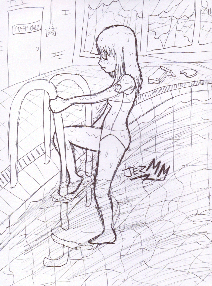 Laura swimming pool sketch by jezmm on deviantart for Swimming pool drawing