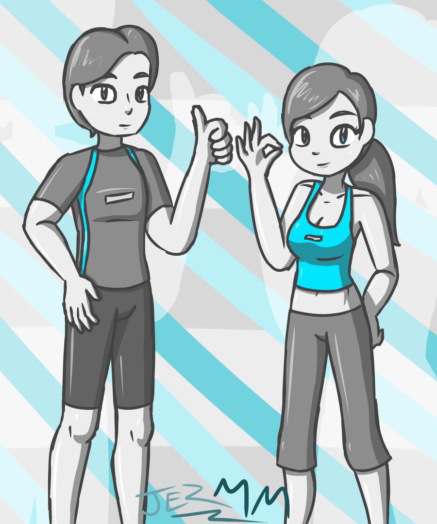 Wii Fit Trainers by JezMM on DeviantArt