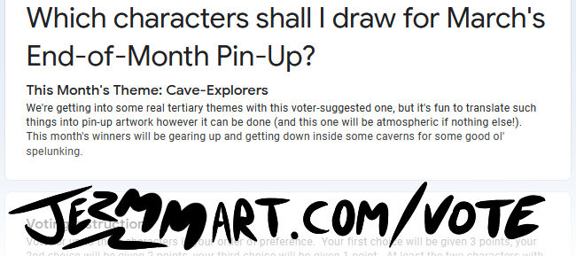 End-of-Month Pin-Up Poll Mar 2021