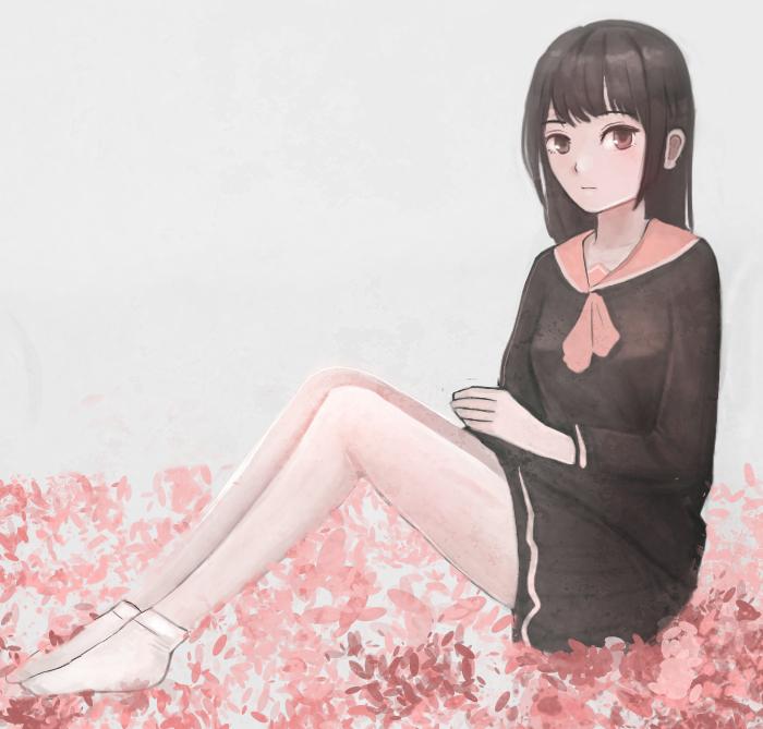 school girl by moonbi