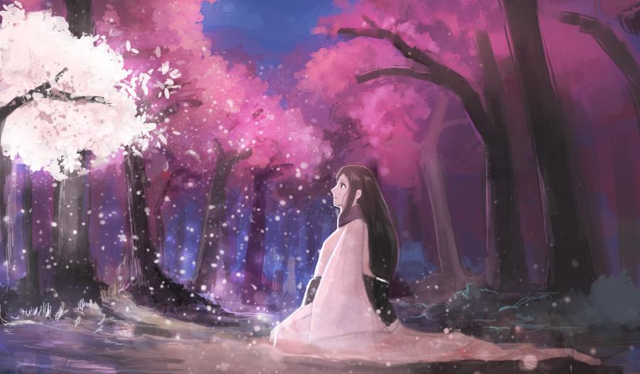 white tree by moonbi