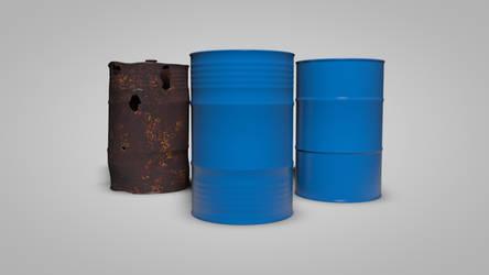 Cinema 4D - Oil Barrels