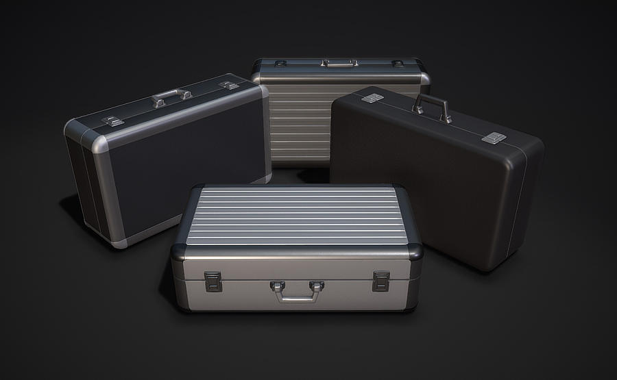 Two Types of Metal ( Aluminum ) Briefcases