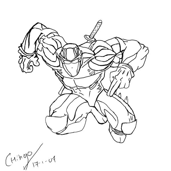 Ryu hayabusa by chingoryu on deviantart for Ryu coloring pages
