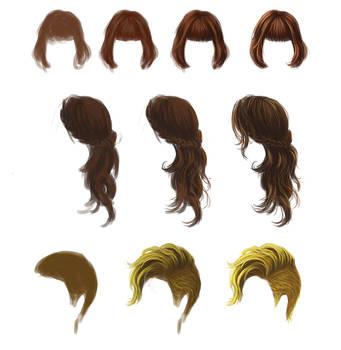 Coloring - Hair on All-Tutorials - DeviantArt