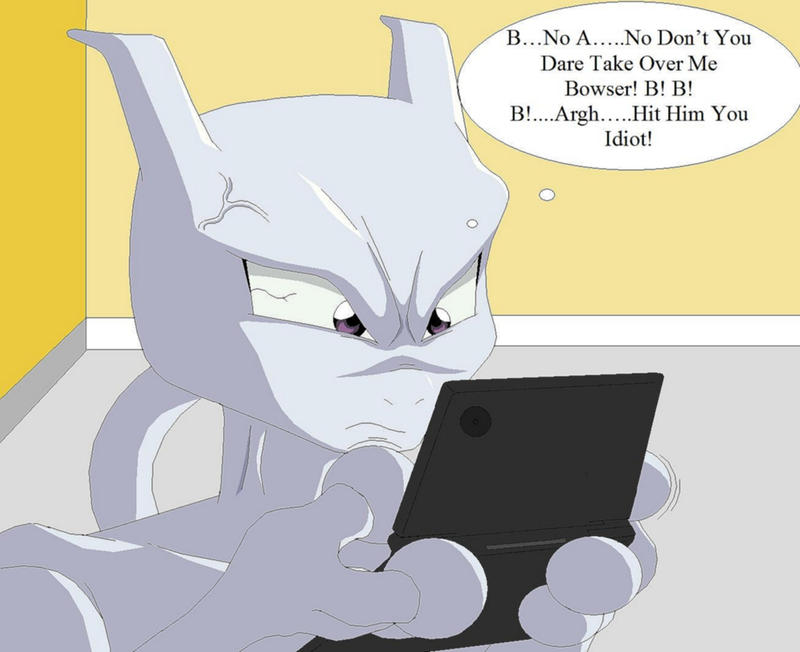 mewtwo plays the dsi by natty354 on deviantart