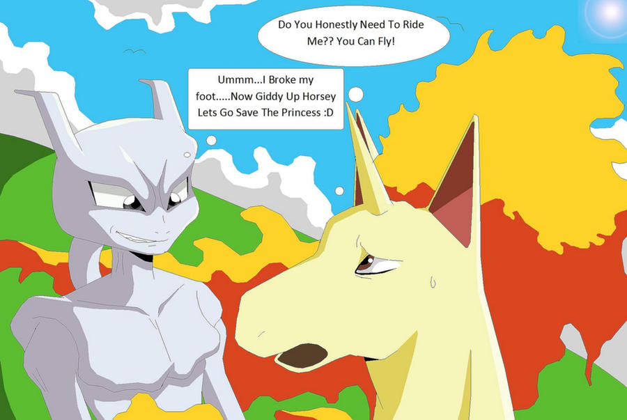 mewtwo wallpaper. Mewtwo Riding Rapidash by *Natty354 on deviantART