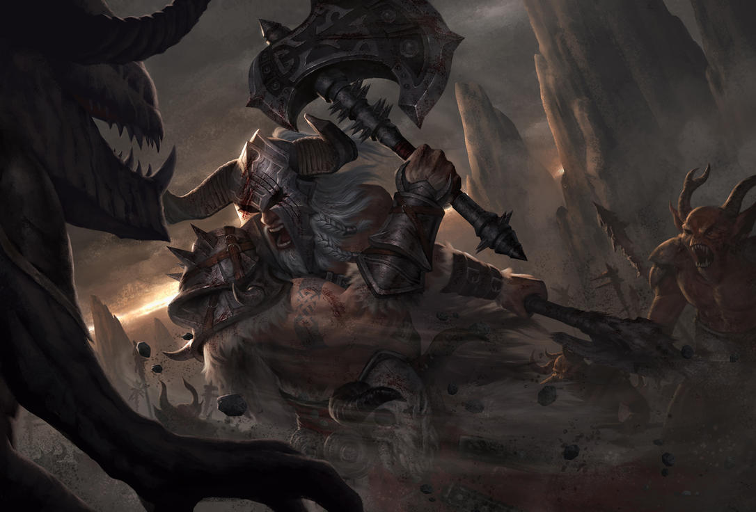 Rage of Barbarian by zinph1212