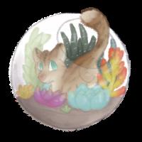 terrarium cat by CupOfChamomile