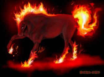 pesadilla - HORSE FIRE- by MissNariel