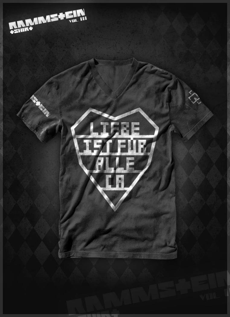 rammstein t shirt vol 3 by waterdesign on deviantart. Black Bedroom Furniture Sets. Home Design Ideas