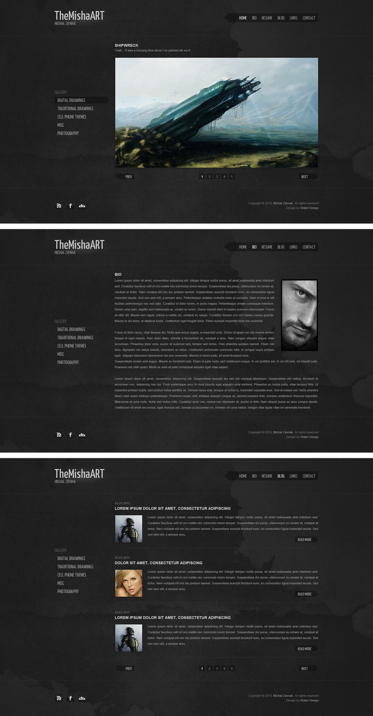TheMishaART Portfolio by waterdesign