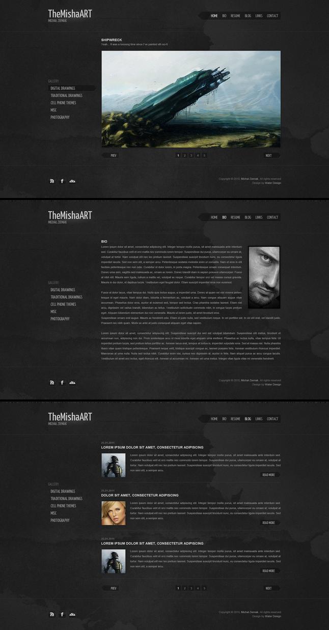 TheMishaART Portfolio by waterdesign