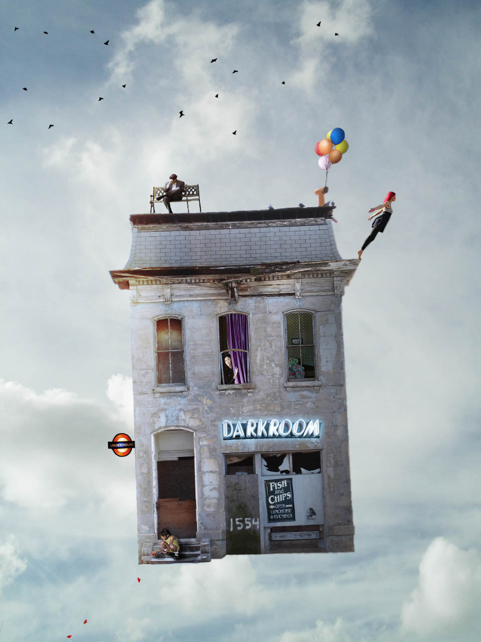 Flying house by zbns on deviantart for Flying haus