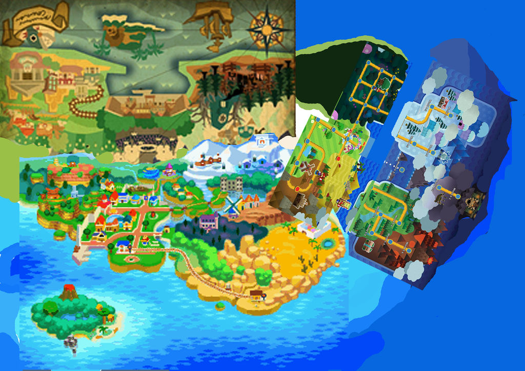 super mario mushroom kingdom map