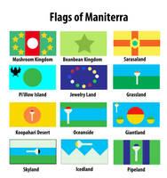 Flags of Maniterra (Mushroom Kingdom w/ Neighbors) by Marhiin