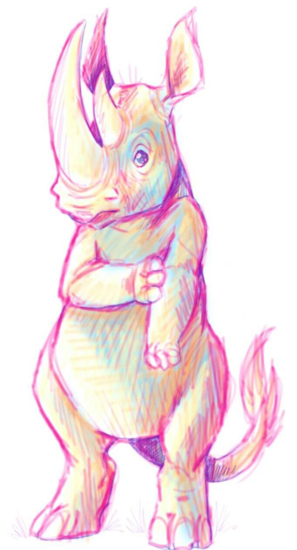 rhino doodle by Yo-Angie