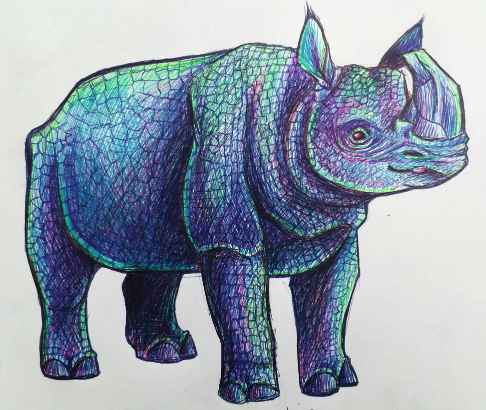 Javan Rhinoceros by Yo-Angie