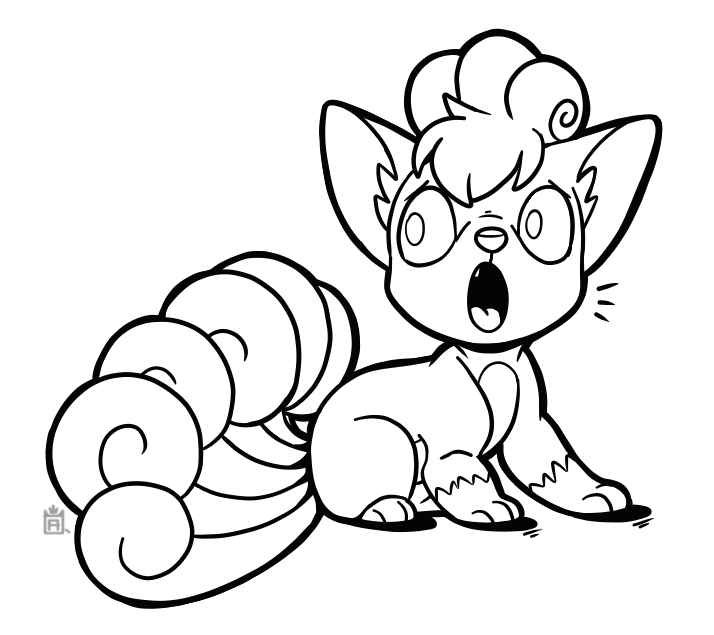 Vulpix Free To Use Line Art By Scuterr