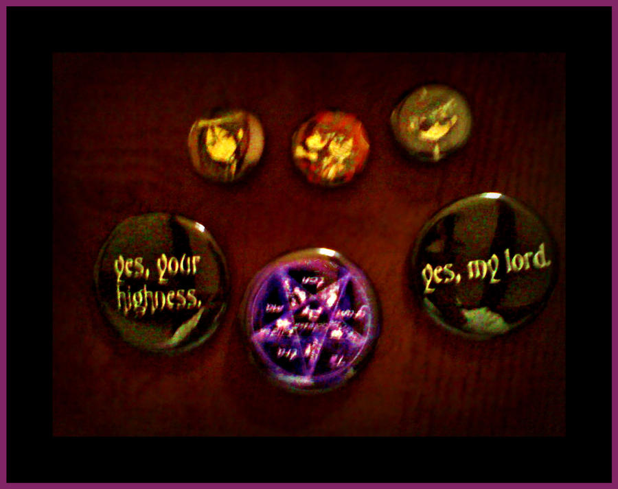 Black Butler Buttons! by xxshadowbloodxx