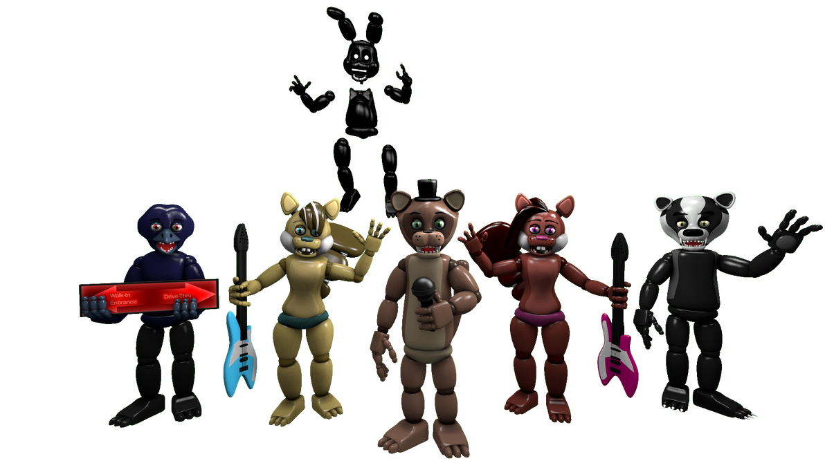 Popgoes sfm popgoes all animatronics by mikol1987 on deviantart