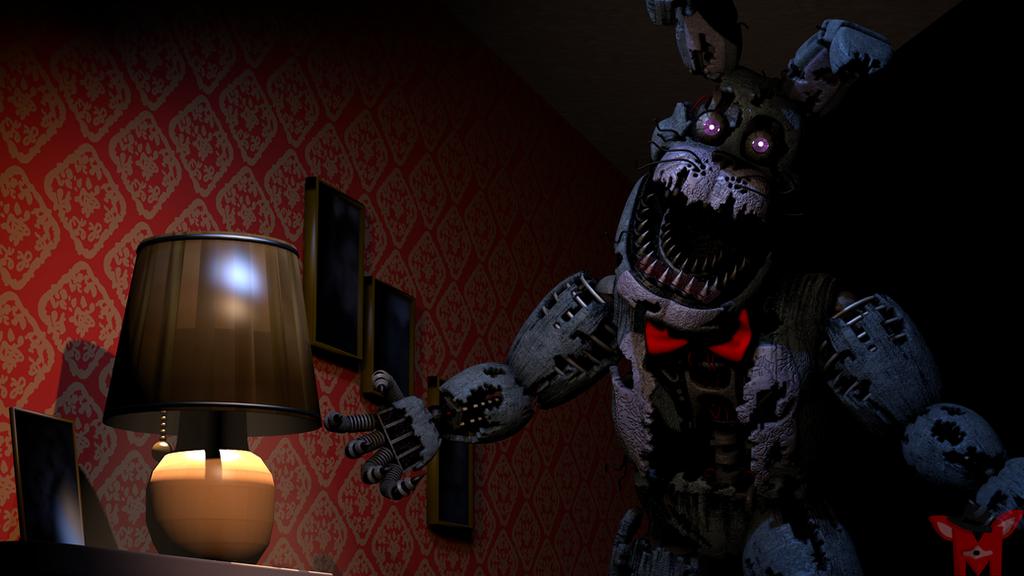 FNaF SFM: Nightmare Bonnie by Mikol1987