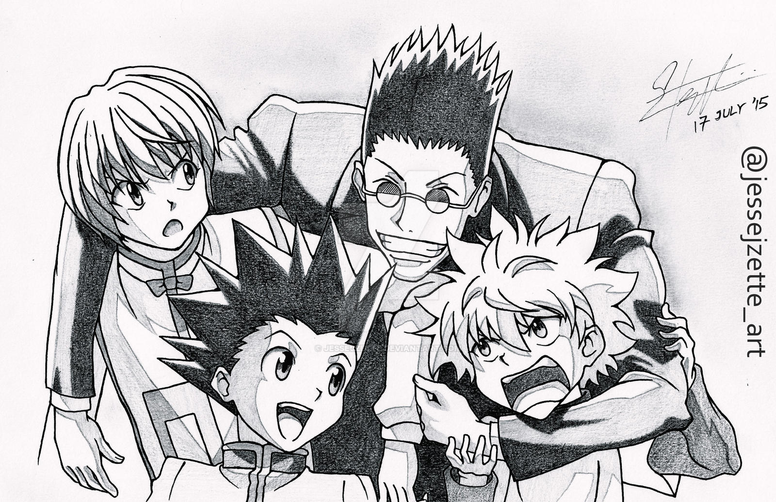This is a picture of Rare Hunter X Hunter Xname Drawing