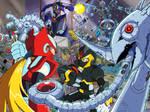 X and Zero vs Metal Shark Player