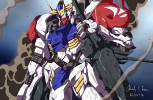 Gundam Barbatos Lupus by innovator123