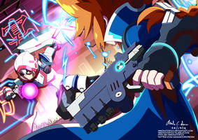 Gunvolt vs Copen (Sinner's Row)