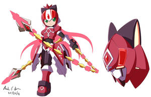 Commission: Megaman Model Kyouka by innovator123