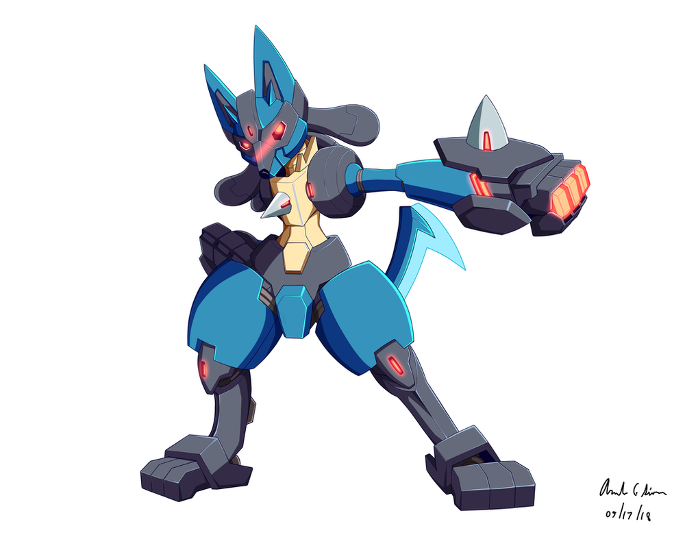 Commission: Mecha Lucario by innovator123
