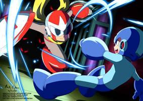 Megaman vs Protoman (Megaman 7) by innovator123