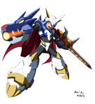 Commission - Megaman X Omegamon Armor