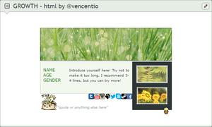 GROWTH - custom box code (FREE) by Vencentio