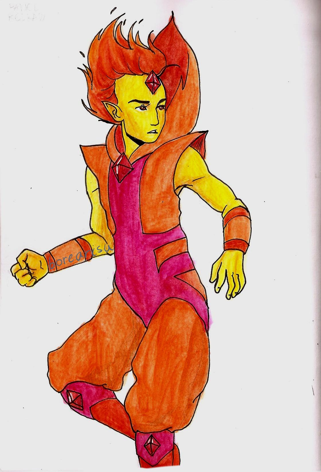 AT - Flame Prince by borearisu