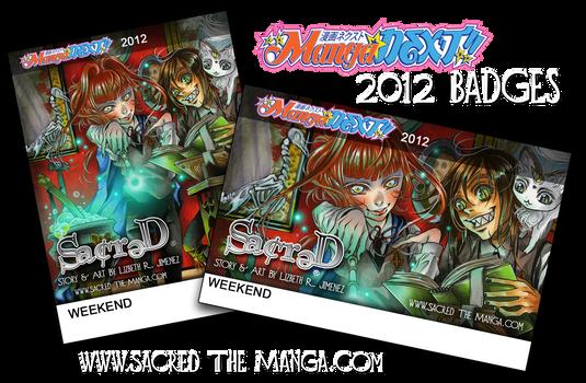 SACRED- MangaNEXT 2012 Badges