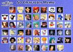 50 Characters Meme