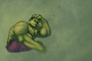 Hulk - wacom test 1 by drucpec