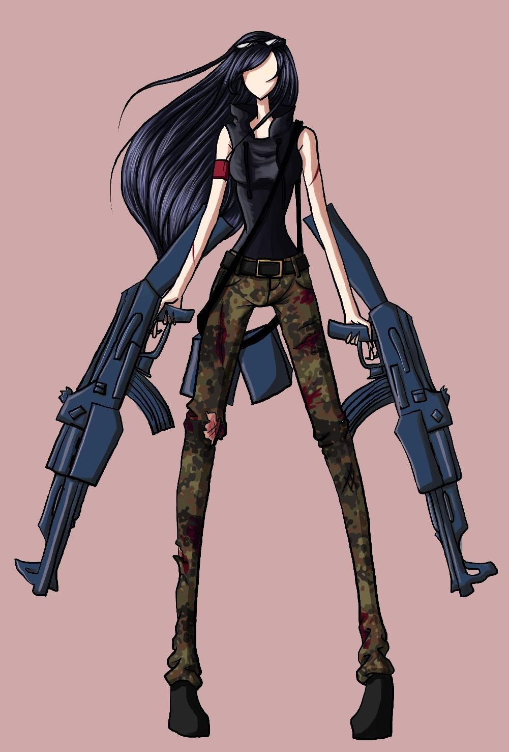 Let S Go Kill Some Zombies Machine Guns Girl Jpg 1001x1477 Deviantart Girls  Killing Zombies Drawings