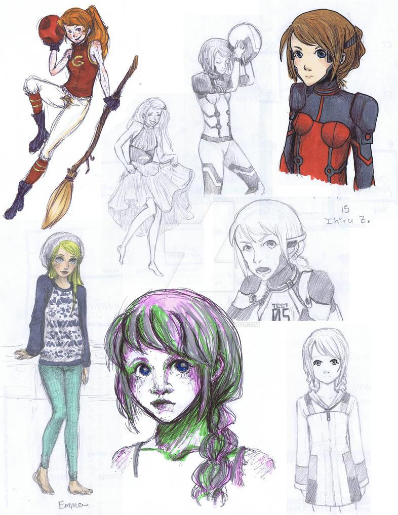 Sketch Dumpin' by byakra-chan