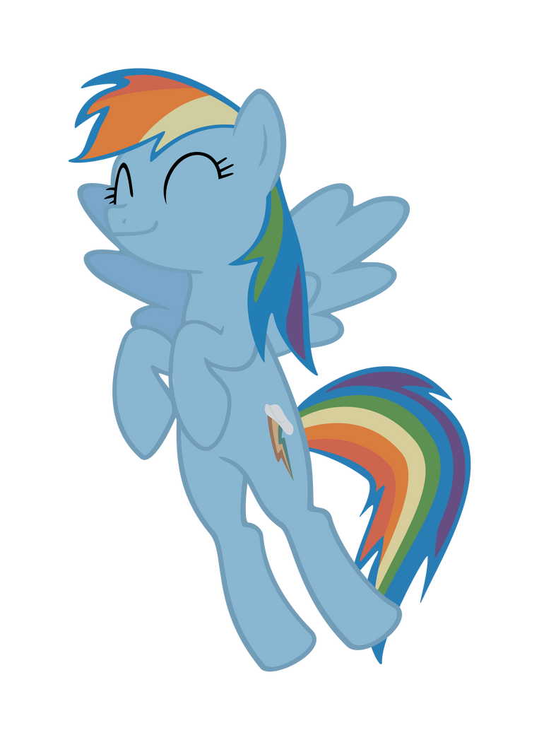 Rainbow Dash Contented Smile Vector by Sgt-Squid