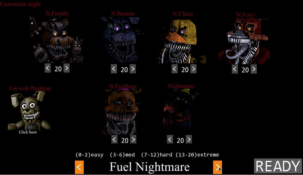 FNAF 4 Custom Night by HAAAAAAAAAAXAX on DeviantArt
