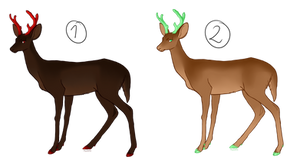 Each 5 points - 0/2- Closed Deer Adoptables by Prof-Dr-T