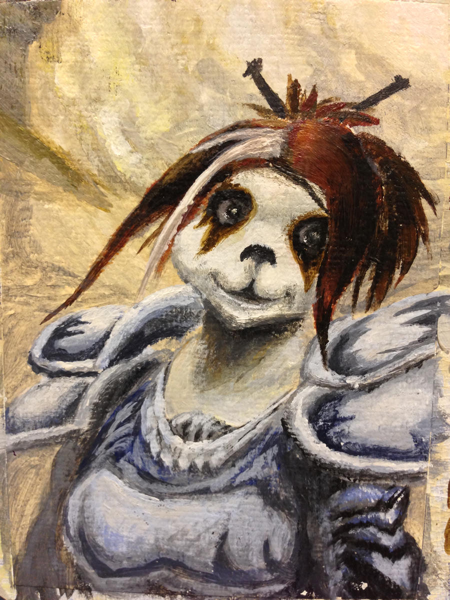 Warcraft ACEO - Frith, the pandaran by Phil-Monk
