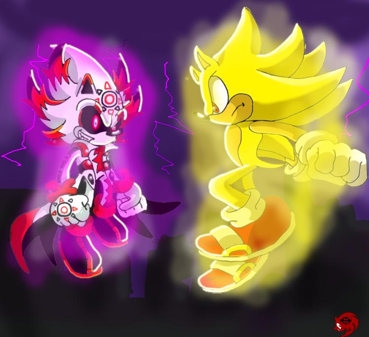 Super Sonic vs DarkCrisam Saro by SaroTheHedgehog on ...